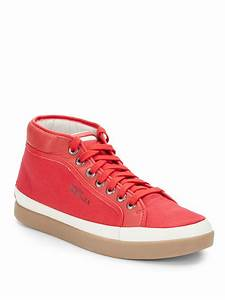 Alexander Mcqueen X Puma Rabble Midrise Sneakers in Red ...