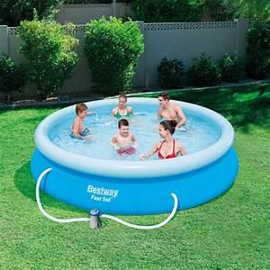 Pool Kaufen Günstig : bestway pool set marin fast rund grau 366cm 57274 g nstig ~ Articles-book.com Haus und Dekorationen
