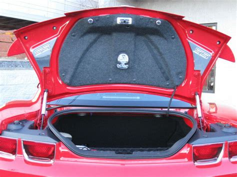 camaro chrome trunk deck side cover fits