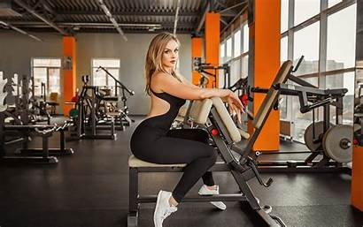 Gym Fitness Exercise Wallpapers Models Blonde Background