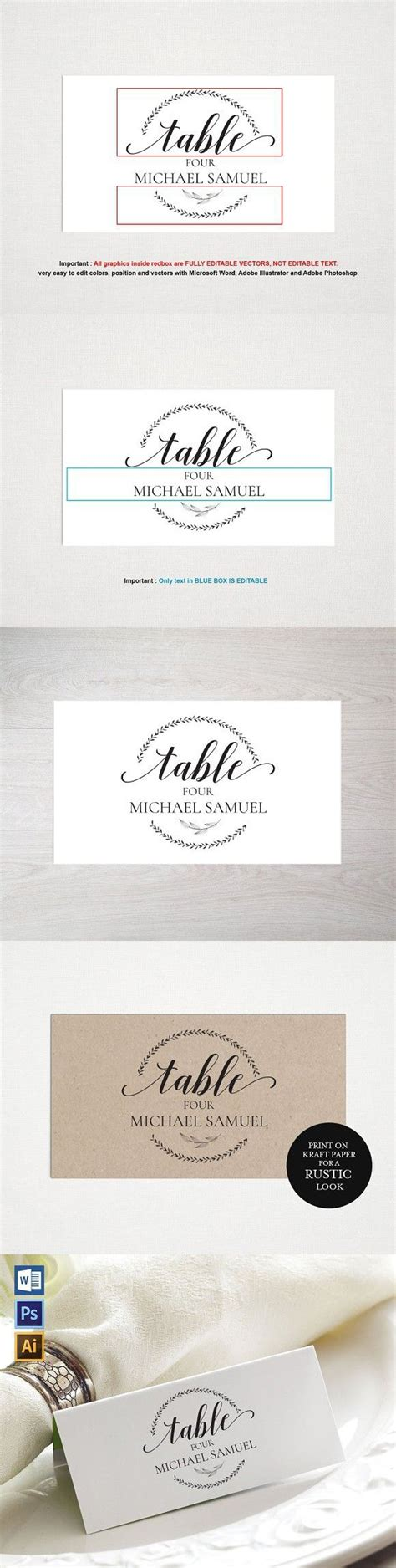 place card template wpc place card template card