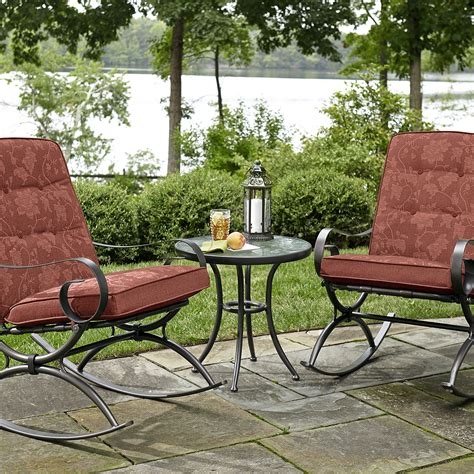 jaclyn smith cora 3pc rocker bistro red outdoor living