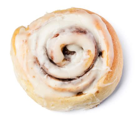 cinnamon roll bun isolated  white stock photo