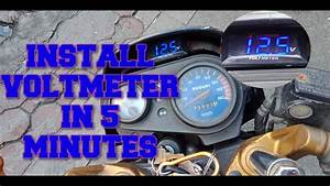 How To Install Voltmeter On Motorcycle Tagalog Tutorial