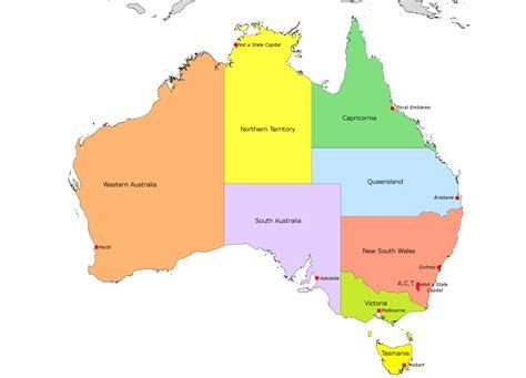 map  australia  capital cities basic outline maps