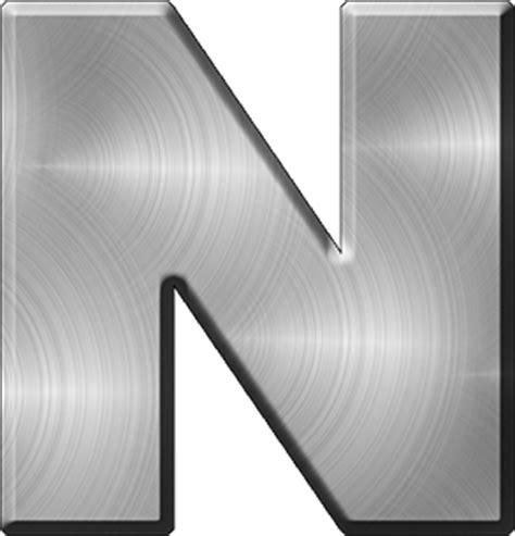 presentation alphabets brushed metal letter a presentation alphabets brushed metal letter n 31331