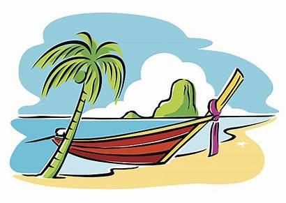 Clipart Boat Phuket Longtail Vector Clip Southern