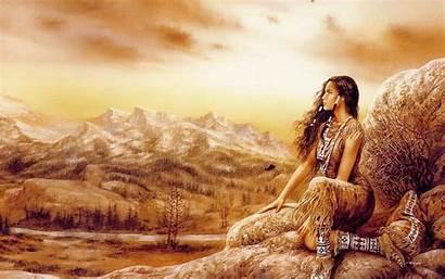 Royo Fantasy Native Luis Landscape Mythology Americans