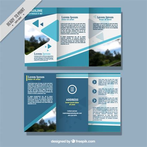Leaflet Template by Abstract Business Leaflet Template Vector Free