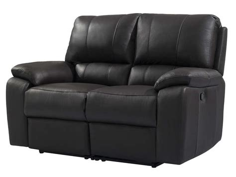 canap 233 fixe relaxation manuel 2 places en cuir coloris noir vente de canap 233 droit