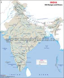 India Map with Rivers and Mountains