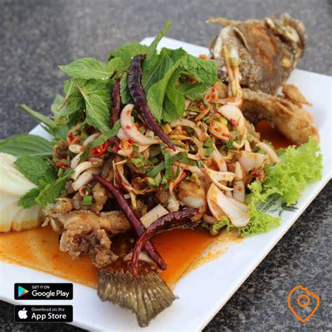 fried fish restaurants suvarnabhumi near lanta koh restaurant airport grouper seafood herbs thb salad