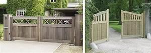 Portail En Bois Pas Cher : portail jardin en bois portail et portillon alu pas cher ~ Melissatoandfro.com Idées de Décoration
