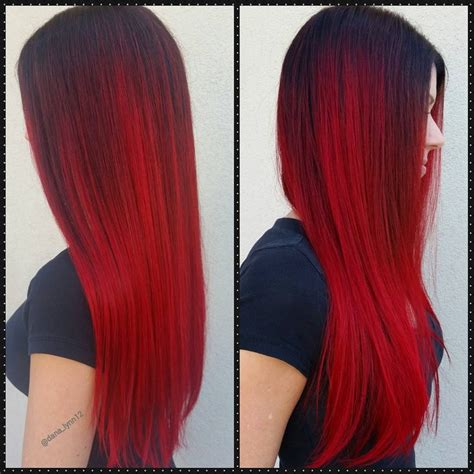 Red Violet Shadowroot Ombre Hair Hair Colors Ideas