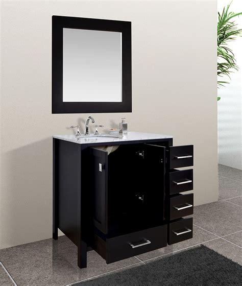 malibu 36 inch contemporary espresso cabinet only bathroom