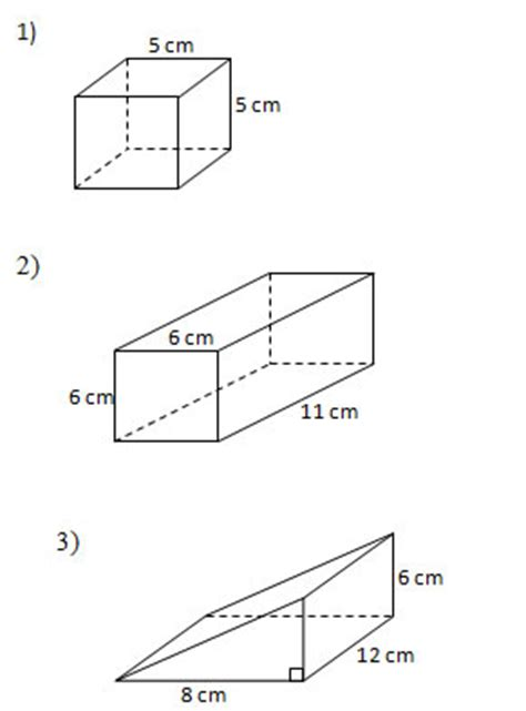 Find The Surface Area Of Solids (worksheets And Solutions