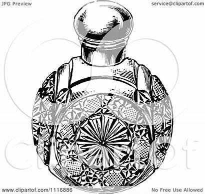 Perfume Bottle Glass Clipart Retro Illustration Vector