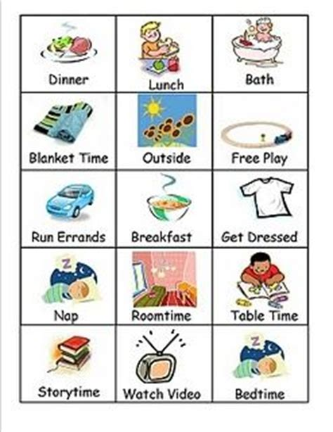 Free Printable Visual Schedule For Preschool  Planner Template Free