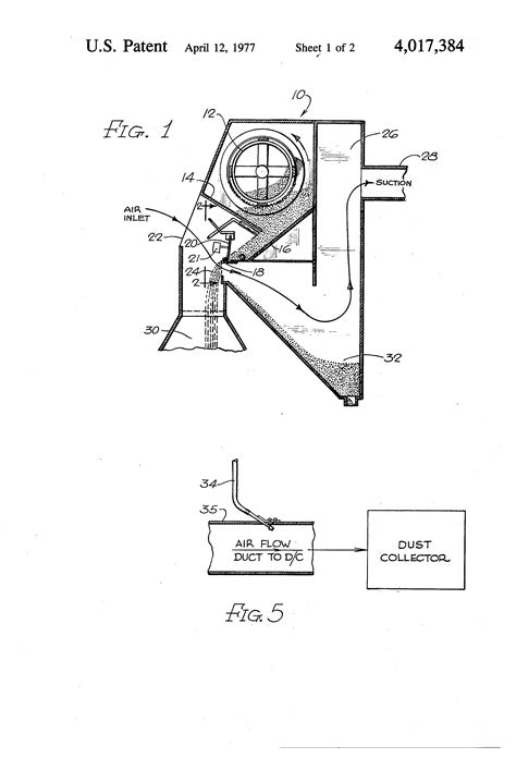 Patent US4017384 - Pneumatic bypass system for air wash