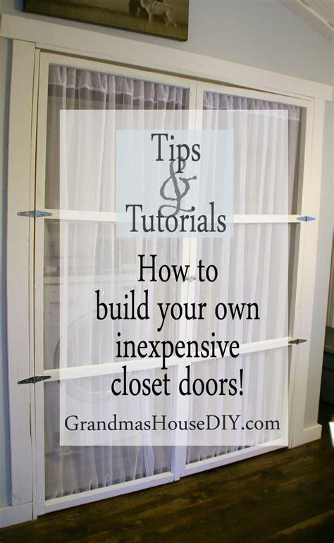 build   inexpensive closet doors