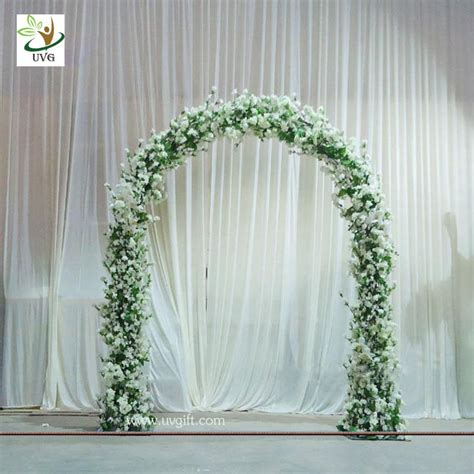 uvg chr1120 8ft white wedding arch in artificial cherry