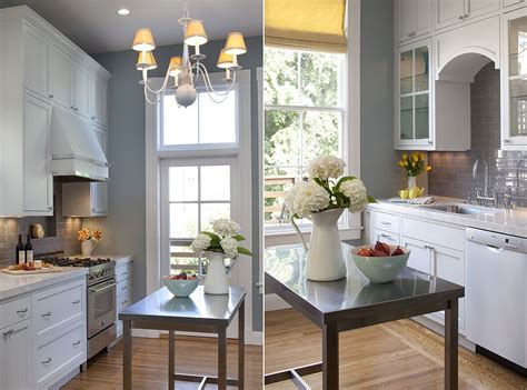 small stainless steel islands   space savvy modern kitchen
