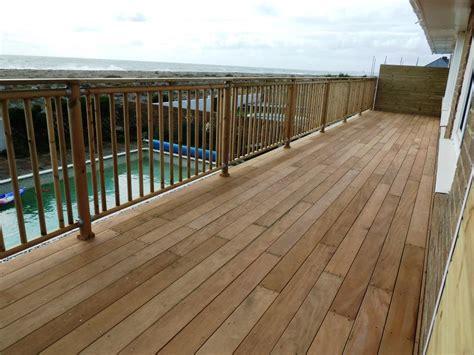 Gray Wood Floor by Garapa Hardwood Decking Balcony Shoreham Beach 187 Arbworx