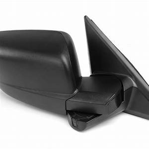Right Passenger Side Black Manual Replacement Side Mirror