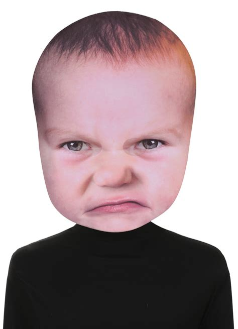 Baby Angry Face Prop Photo Real Photo Face Mask | Costumes.com.au