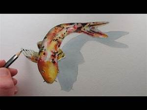 How to Draw a Fish: Koi Carp narrated step by step - YouTube