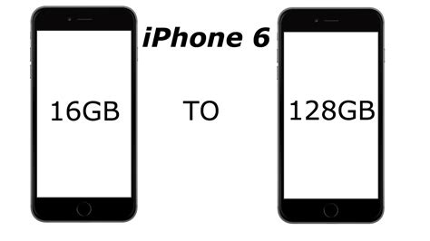 increase storage on iphone iphone 6 storage upgrade to128gb 4k