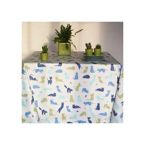 nappe en enduit nappe en coton enduit chats bleue nappe enduite fleur de soleil