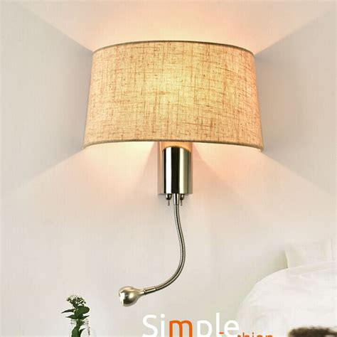 black white gunny bedside wall l led spot lighting fixtures in the reading wall light with