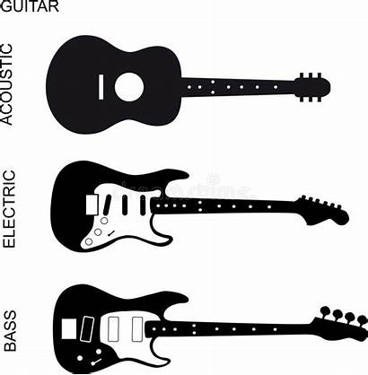Guitar Bass Acoustic Electric Illustration Vector