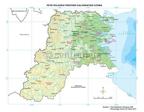 peta atlas provinsi kalimantan utara sentra peta