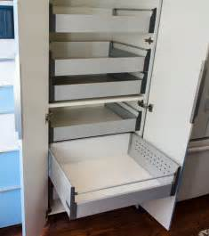 ikea akurum high cabinet hack  sliding shelves