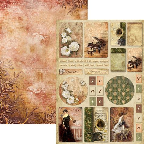 Ciao Bella A4 Double Sided Scrapbook Paper Collection