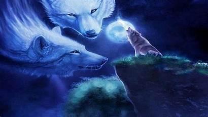 Wolf Moon Spirit Wallpapers Desktop Animal Howling
