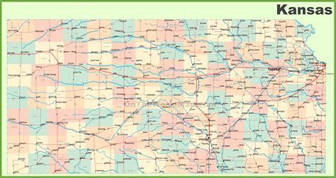 road map  kansas  cities