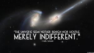 The universe seems neither benign nor hostile, merely ...