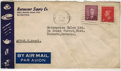 Air Mail Letter Domestic Cents Rate Postal