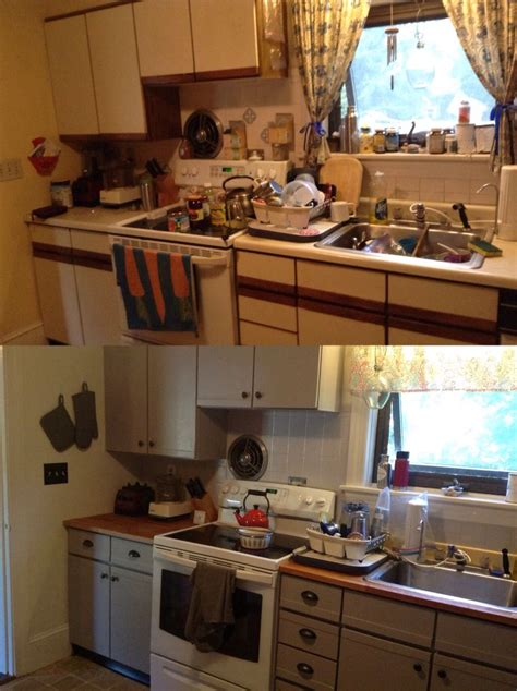 painted laminate kitchen cabinets my before after painting pressboard laminate cabinets 3994