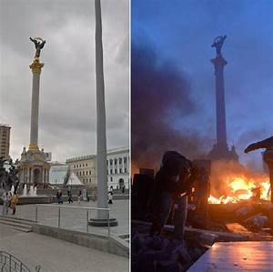 Before and after shots show devastation in Kiev's ...