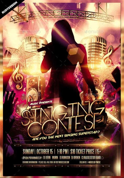 beautiful contest flyer templates psd ai vector