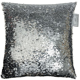 Reversible Sequin Cushion 30 x 30cm   Silver & White