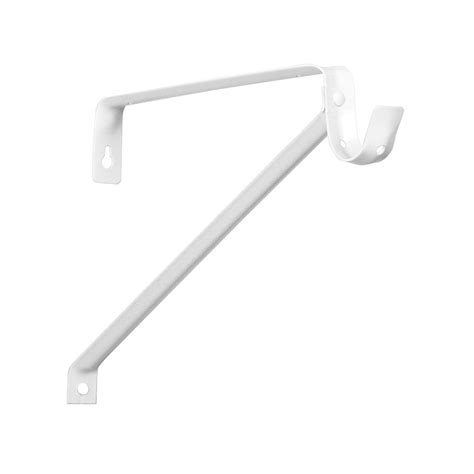 home depot shelf brackets everbilt everbilt white adjustable steel shelf and rod