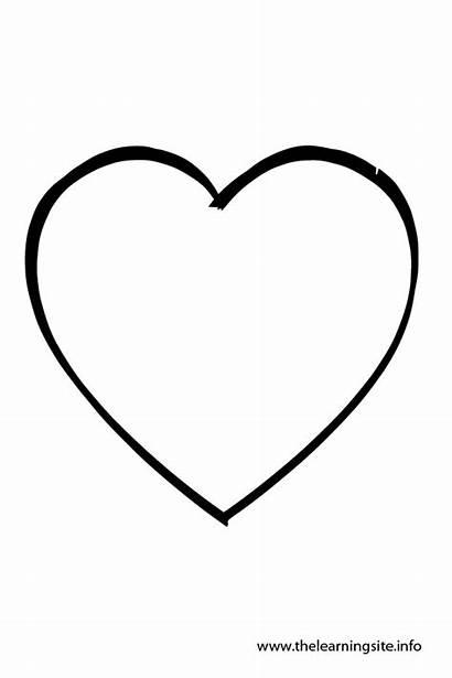 Outline Heart Shape Coloring Clip Shapes Clipart