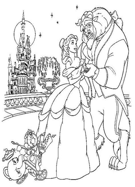 bell  beauty   beast coloring pages coloring home