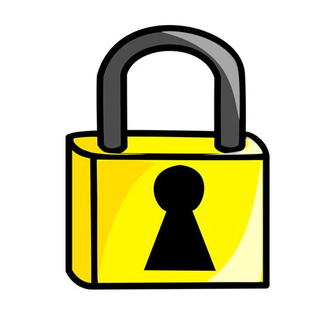 Padlock Clipart Lock Free Stock Photo Illustration Of A