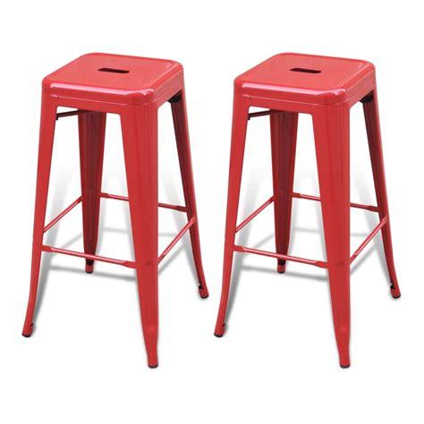 chaise de bar tolix bar chair high chairs bar stools square 2 pcs vidaxl com